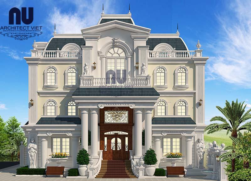 biệt thự bán cổ điển 3 tầng 300m2 2