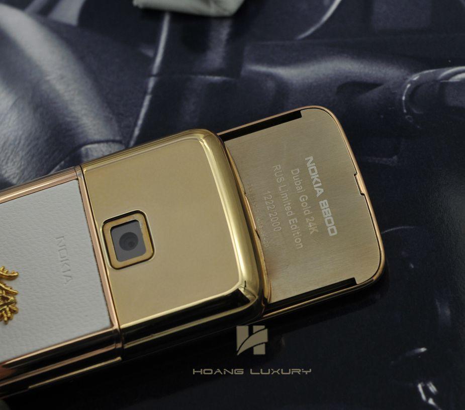 Những giá trị ẩn giấu của Nokia 8800 vàng hồng da trắng đính rồng