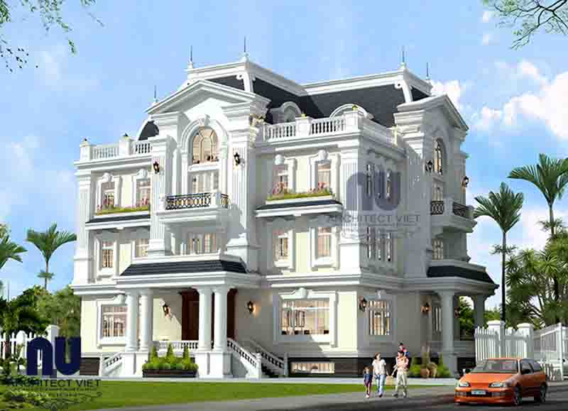 biệt thự tân cổ điển 3 tầng đẹp
