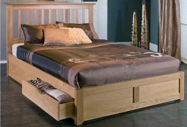 sản phẩm giường ngủ có ngăn kéo gỗ công nghiệp