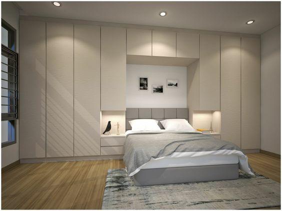 hình ảnh phòng ngủ đẹp với giường ngủ có ngăn kéo
